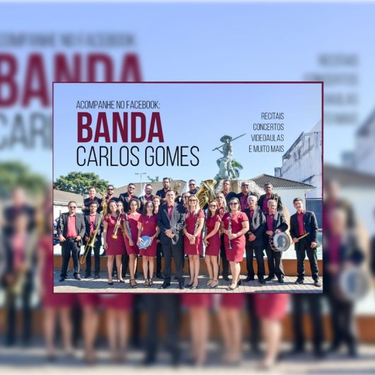 Banda Municipal Carlos Gomes faz concertos on-line durante isolamento social
