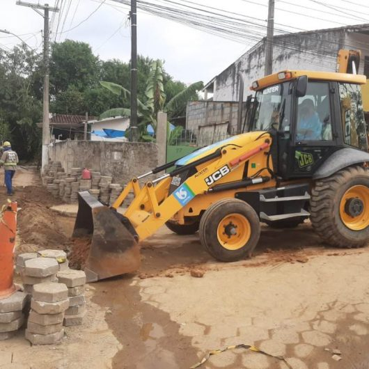 Obras de esgoto no Rio do Ouro para beneficiar 160 pessoas são concluídas