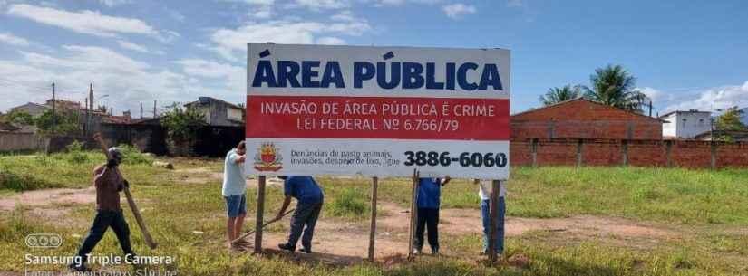 Prefeitura de Caraguatatuba desmonta cercas montadas em área pública