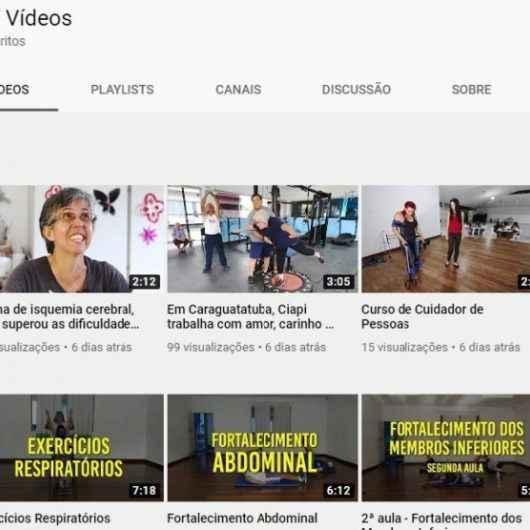 Ciapi de Caraguatatuba oferece atividades de fisioterapia online para idosos e pessoas com deficiência