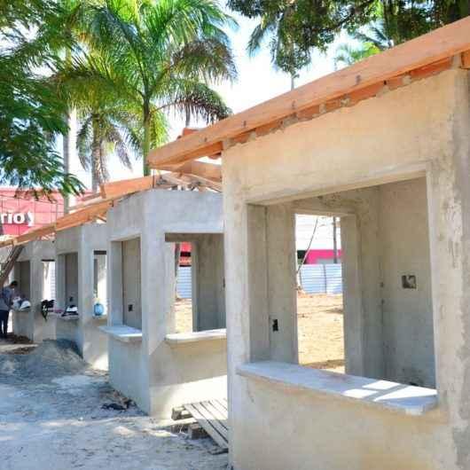Prefeitura continua com obras de revitalização das Praças Diógenes Ribeiro (Centro) e Antônio Fachini (Martim de Sá)