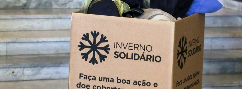 """Parceria disponibiliza caixas de coleta da Campanha """"Inverno Solidário"""" em lojas da cidade"""