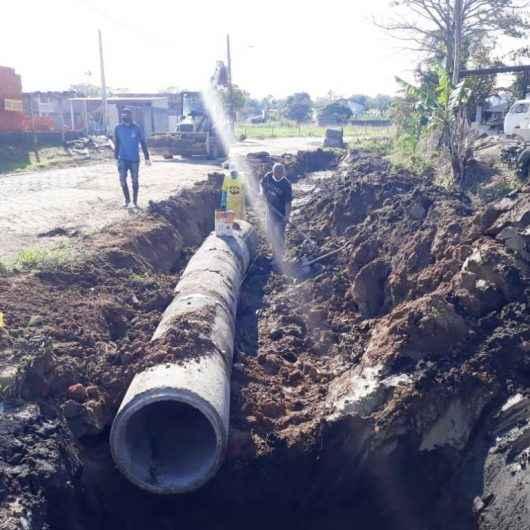 Obras contra enchentes continuam no bairro Jetuba