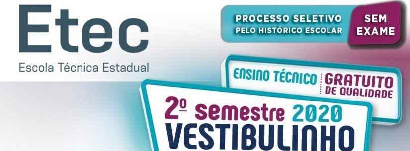 Estão abertas inscrições para  Vestibulinho da Etec Caraguatatuba - 2º semestre 2020