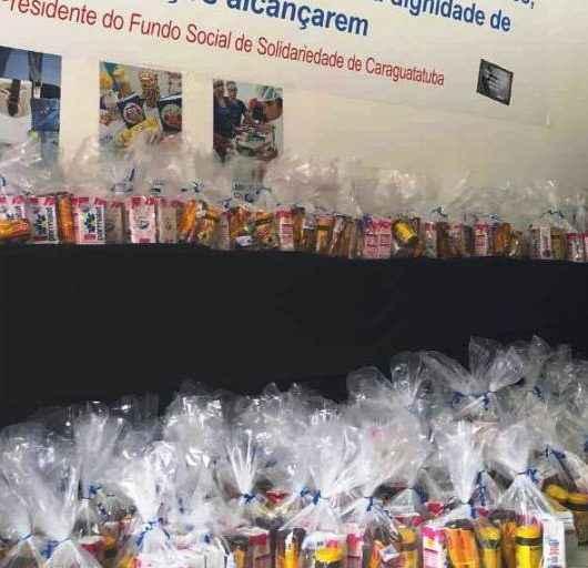 Fundo Social de Caraguatatuba recebe doação de 200 kits de alimentos