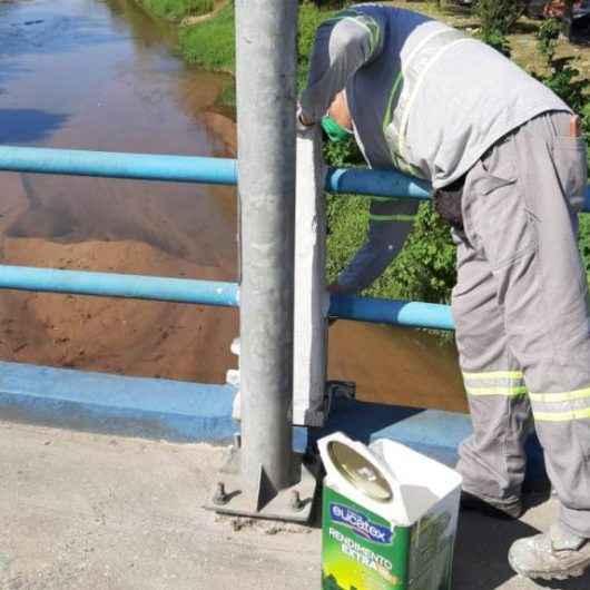 Ponte sobre o Rio Santo Antônio recebe revitalização