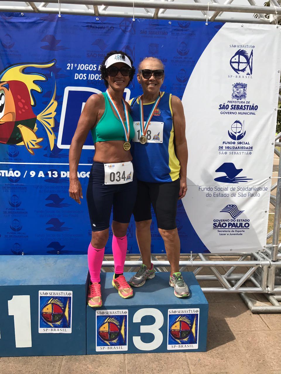 Caraguatatuba é ouro no atletismo feminino nos Jogos Regionais do Idoso