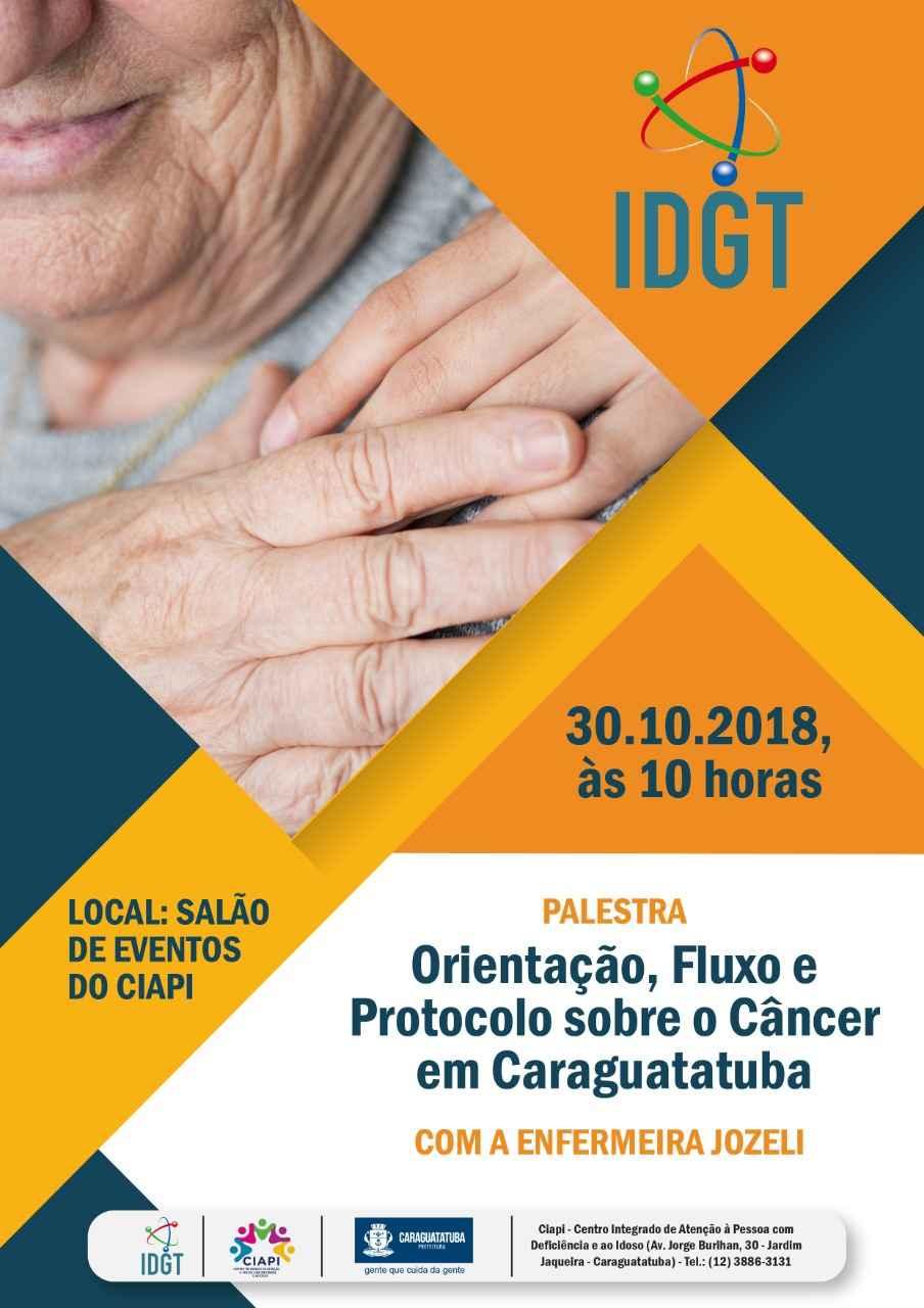 Ciapi promove orientação sobre fluxo para tratamento de câncer em Caraguatatuba
