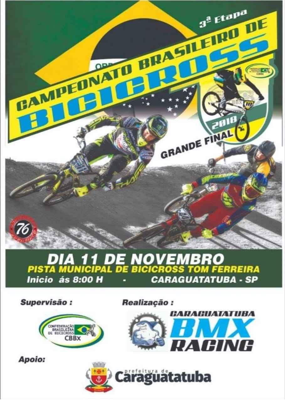 Caraguatatuba promove a 3ª Etapa do Campeonato Brasileiro de BMX (CBBX)
