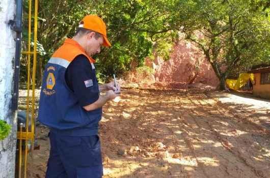 Defesa Civil do Estado e Instituto Geológico vistoriam áreas de risco em Caraguatatuba