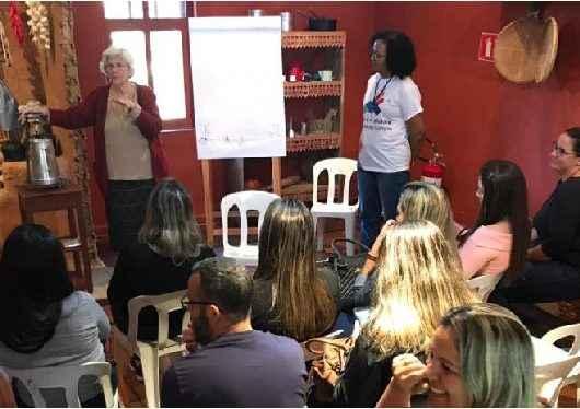 Coordenadores escolares de Caraguatatuba visitam museu do folclore em São José dos Campos
