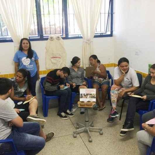 "CEI/EMEI Messias Mendes de Souza recebe palestra sobre tema da campanha ""Doe leite, alimente a vida"""