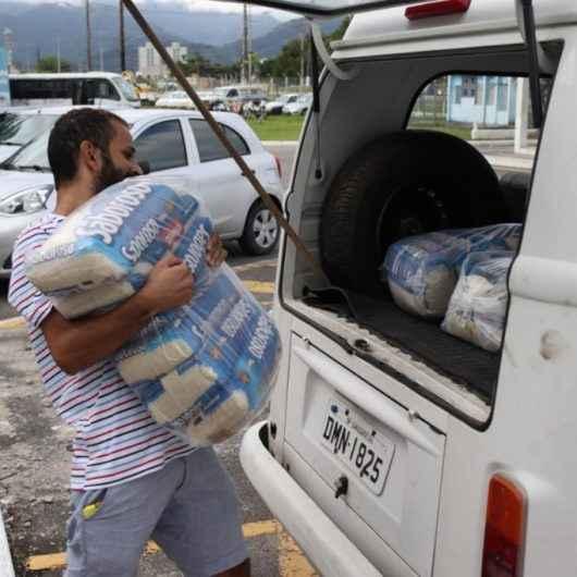 Caraguatatuba entrega as 48 toneladas de arroz arrecadadas em etapa da Gincana da Solidariedade