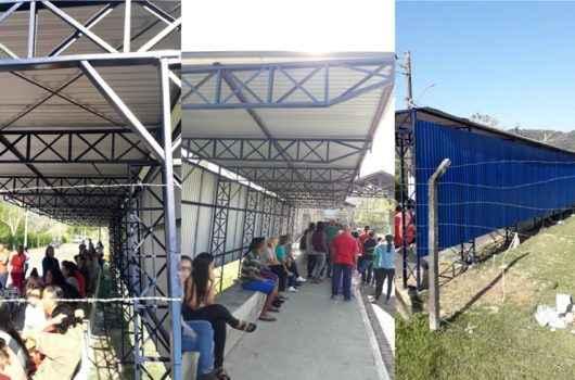Prefeitura instala cobertura para visitantes na entrada do CDP
