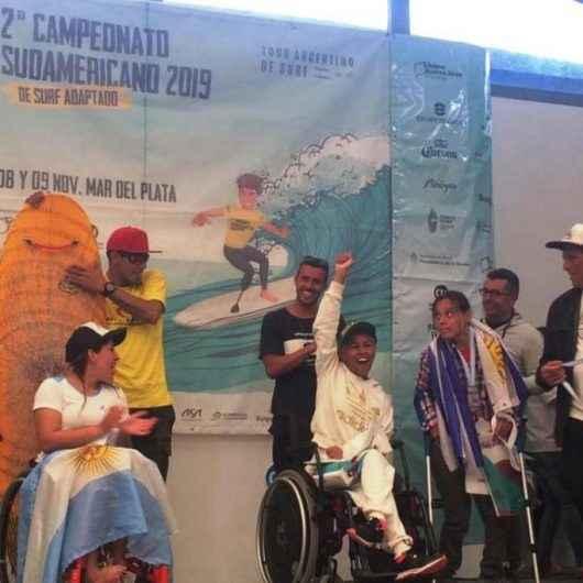 Paratletas de Caraguatatuba garantem vice-campeonato no Surf Adaptado na Argentina