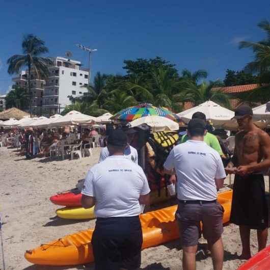 Com foco no Carnaval, Marinha do Brasil e Prefeitura de Caraguatatuba realizam ações preventivas nas praias