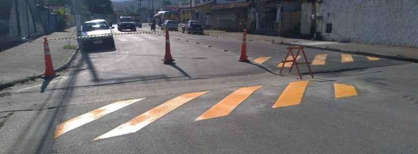 Prefeitura de Caraguatatuba reforça sinalização em vários bairros da cidade