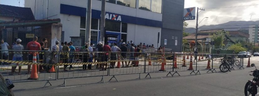 Prefeitura de Caraguatatuba anuncia novas medidas para ajudar no controle da fila da Caixa Econômica