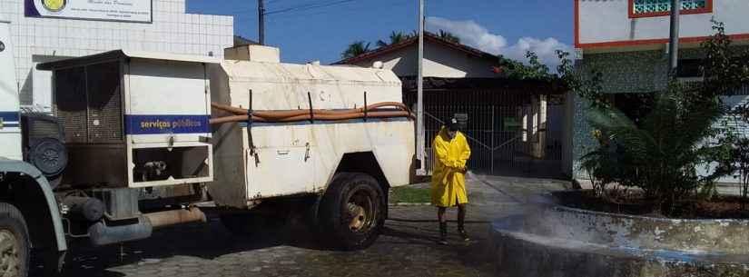 Ruas do Poiares recebem higienização em combate ao novocoronavírus