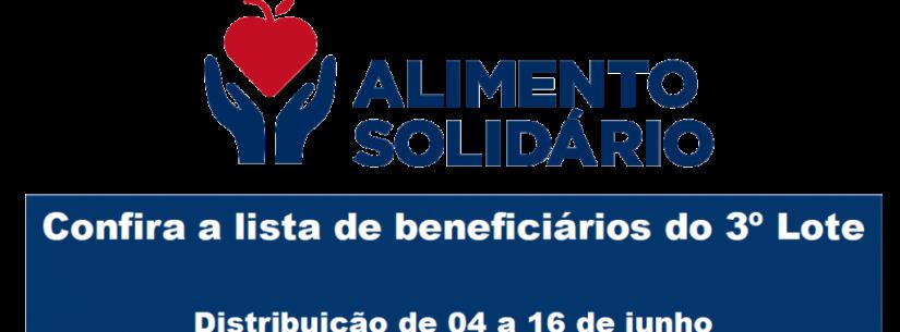 "Confira a lista de beneficiários do 4º lote de cestas do Programa ""Alimento Solidário"""