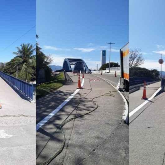 Prefeitura reforça sinalização para ciclistas e pedestres na Ponte do Porto Novo
