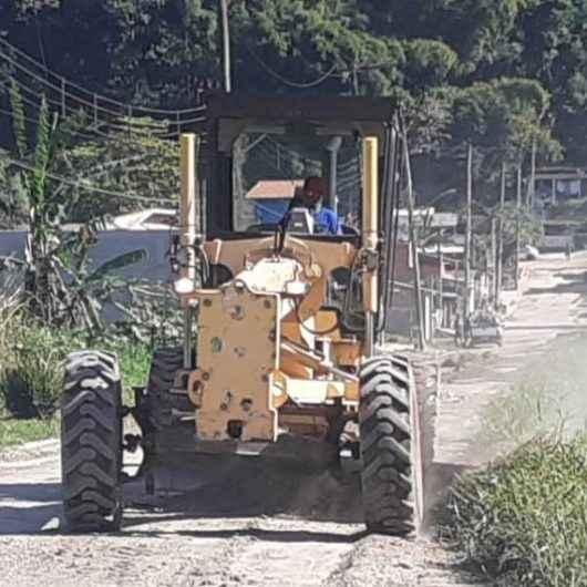 Prefeitura realiza serviço de nivelamento no Jardim Santa Rosa (Morro do Chocolate)