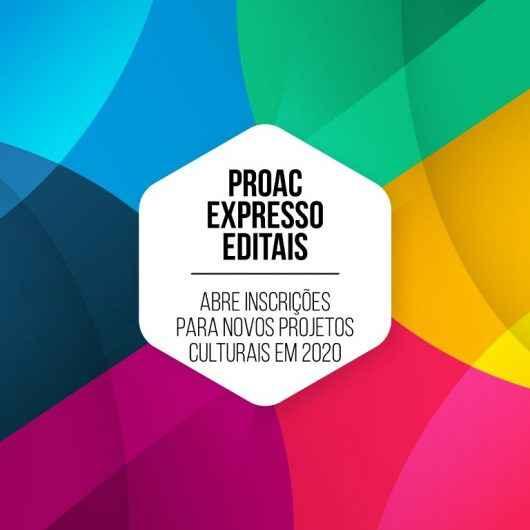ProAC Expresso Editais abre inscrições para novos projetos culturais em 2020