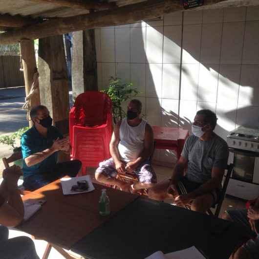 Prefeitura de Caraguatatuba se reúne com pescadores da Tabatinga para implantação de rancho de pesca
