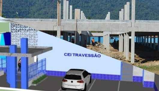 Obras de construção de unidades escolares no Travessão seguem em ritmo acelerado