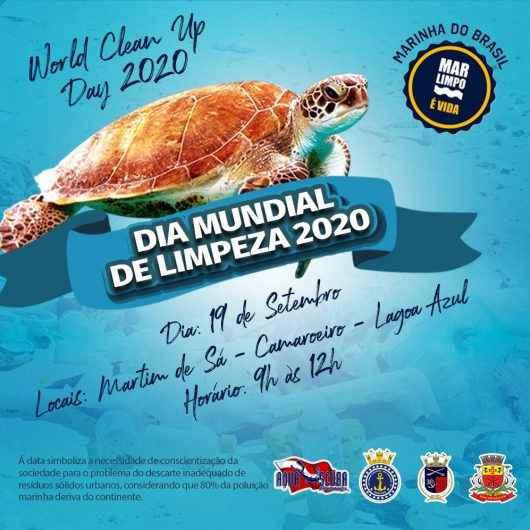 No Dia Mundial da Limpeza (19), voluntários realizam ações nas praias e mar de Caraguatatuba
