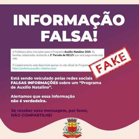 Prefeitura de Caraguatatuba alerta para golpe do Programa Auxílio Natalino