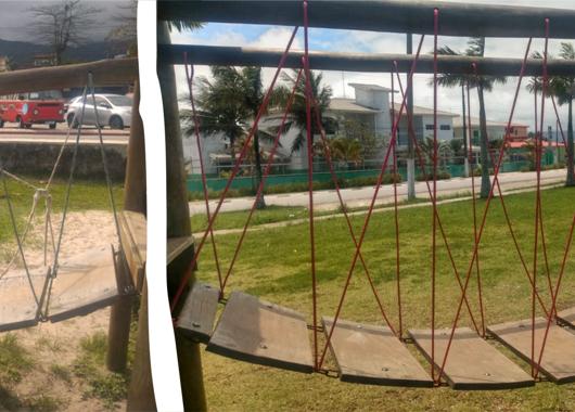 Prefeitura de Caraguatatuba revitaliza parquinhos e alerta para casos de vandalismo