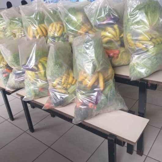 Prefeitura já distribuiu mais de 14 mil kits de hortifrutis aos alunos da rede municipal