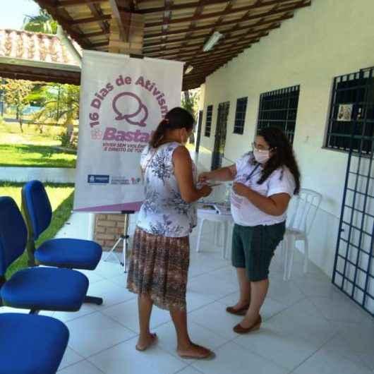 Campanha '16 Dias de Ativismo pelo Fim da Violência' orienta cerca de 100 mulheres para atendimento especializado