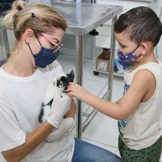 Última feira de adoção do ano recebeu mais de 50 visitantes e 11 animais foram adotados