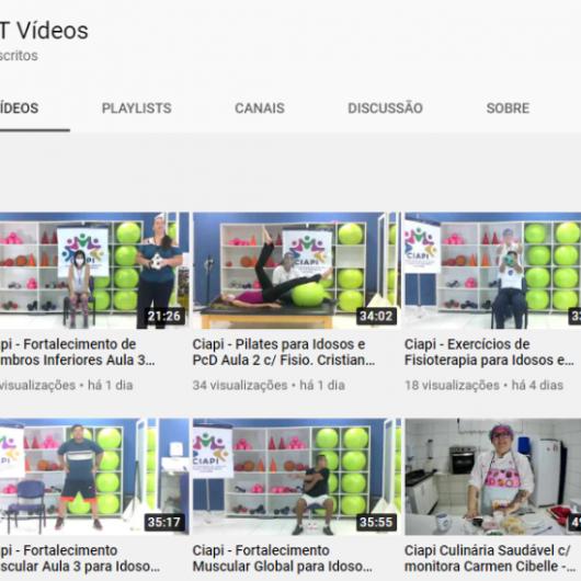 Ciapi de Caraguatatuba oferece atividades online por meio do Youtube