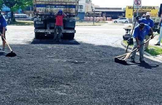 Prefeitura de Caraguatatuba realiza melhorias nas ruas do Pontal Santamarina e Jardim Santa Rosa