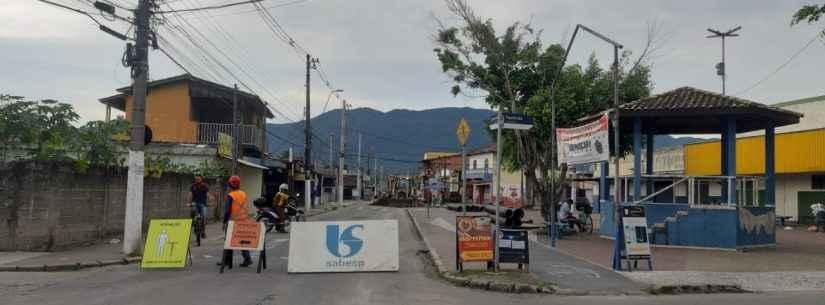 Secretaria de Mobilidade Urbana realizo desvios na principal avenida do Travessão para obras da Sabesp