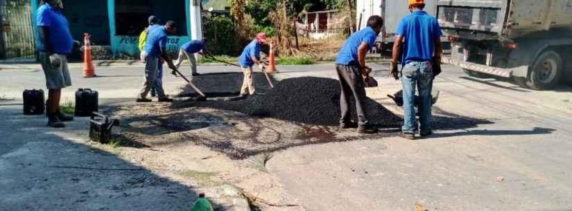 Prefeitura de Caraguatatuba continua com reparo de ruas na Região Sul