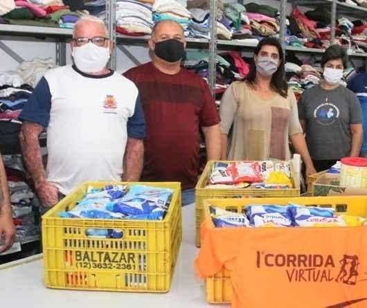 Fundo Social de Caraguatatuba recebe 126 kg de leite em pó arrecadados no 1º Circuito de Corrida de Rua Virtual
