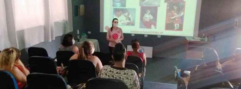 Gestantes de Caraguatatuba participam de palestra sobre amamentação