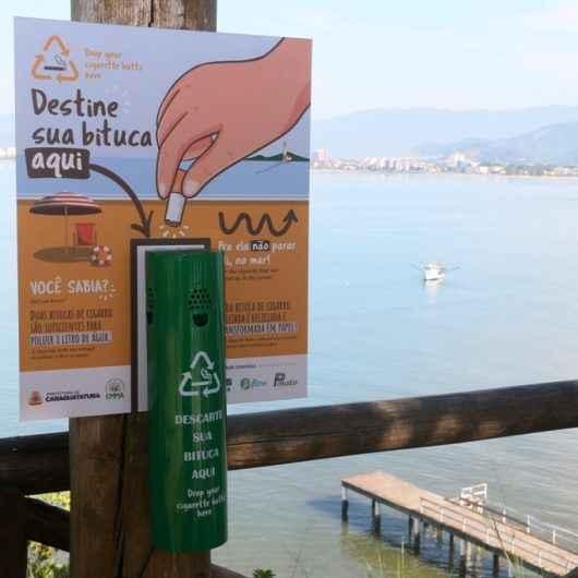 Prefeitura de Caraguatatuba instala coletores de bituca de cigarro em diversos pontos
