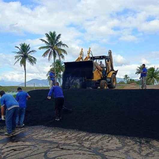 Prefeitura de Caraguatatuba faz recapeamento da pista de Bicicross