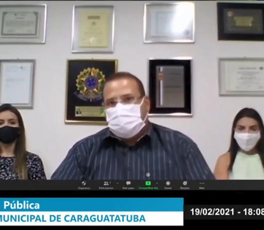 Projeto da taxa de manutenção do CaraguaPrev será debatido em audiências virtuais na Câmara