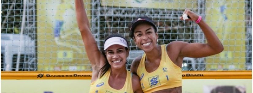 Dupla de Caraguatatuba disputa Circuito Open de Vôlei de Praia Feminino no RJ