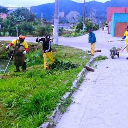 Região Sul recebe manutenção da Prefeitura de Caraguatatuba