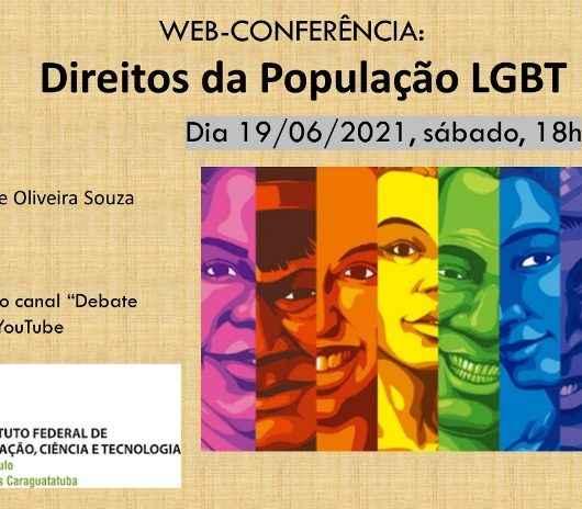 IFSP Caraguatatuba promove webconferência sobre a luta pelos direitos da população LGBT