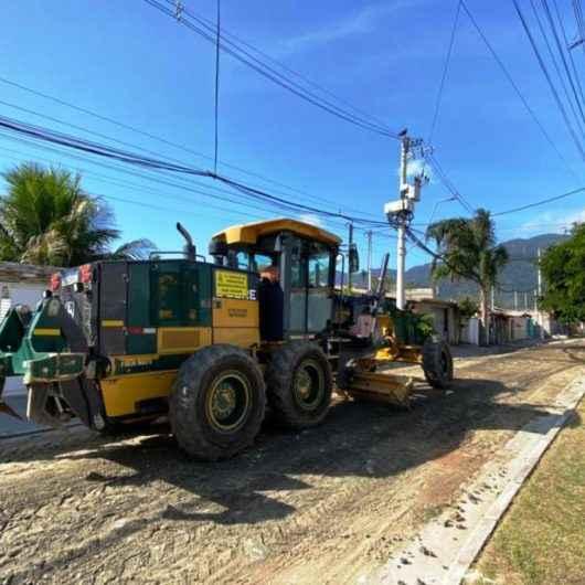 Prefeitura de Caraguatatuba atende solicitação feita na Central 156 no bairro Perequê-Mirim