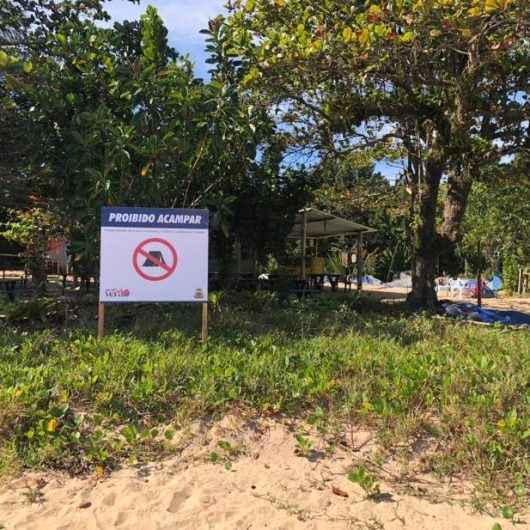 1Prefeitura de Caraguatatuba coloca placas sobre proibições na Ilha do Tamanduá