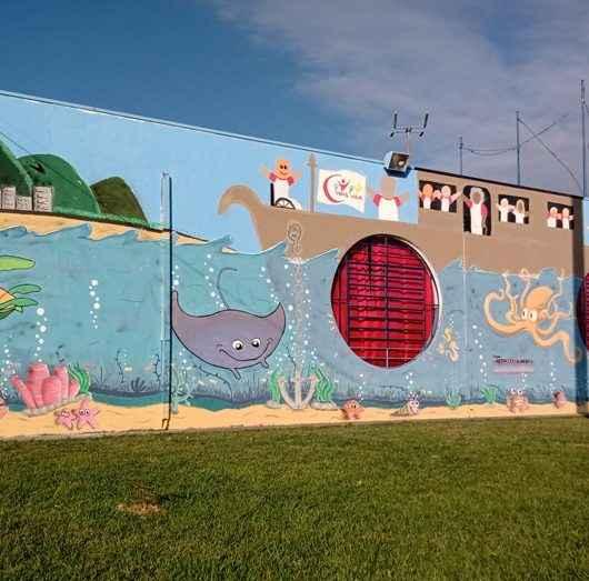 ONG Instituto Mais Vida leva arte em grafite à Praça de Eventos do Porto Novo